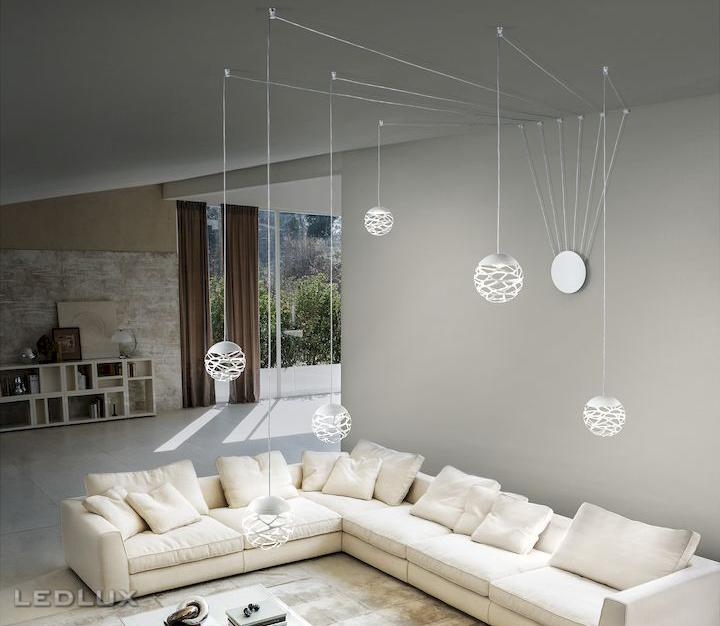LODES KELLY CLUSTER Sphere Sospensione White 147013