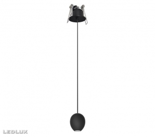 AZZARDO Ovum 1 pendant downlight AZ3096 black