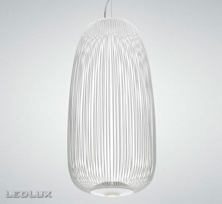 FOSCARINI Spokes 1 LED sospensione WHITE