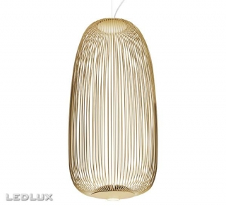 FOSCARINI Spokes 1 LED sospensione GOLD