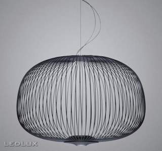 FOSCARINI Spokes 3 LED sospensione GRAPHITE