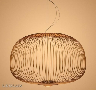 FOSCARINI Spokes 3 LED sospensione COPPER
