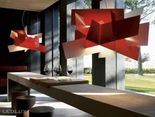 FOSCARINI BIG BANG Sospensione LED Red 151007L 63