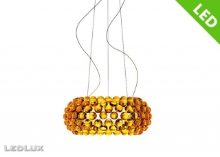 FOSCARINI CABOCHE Sospensione MEDIA Giallo LED 138007L 52