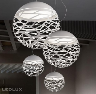LODES KELLY Large Sphere 80 Sospensione White 141005